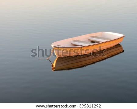 Filling Boat - stock photo