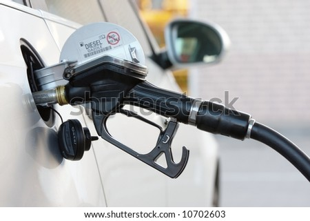 filling station - stock photo