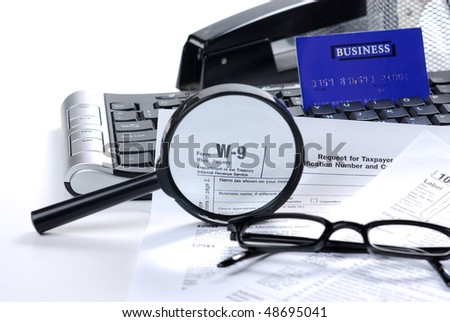 filling tax return - stock photo