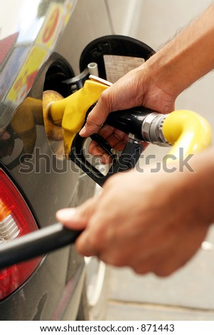 Filling the tank - stock photo