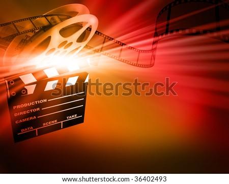 Film background. - stock photo