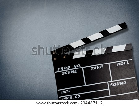 Film, clapperboard, clapper.