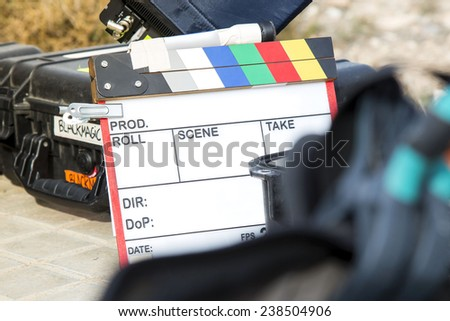 film clapperboard colores - stock photo