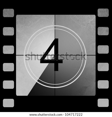 Film countdown 4 - stock photo