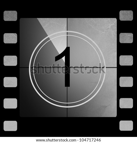 Film countdown 1 - stock photo