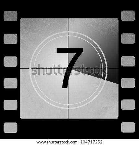 Film countdown 7 - stock photo