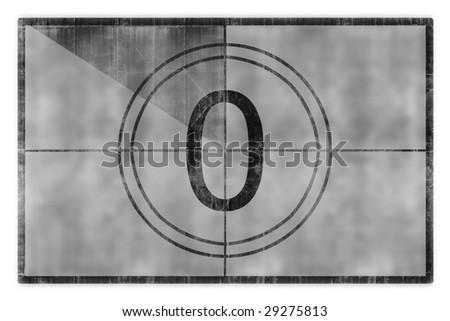 film countdown - stock photo