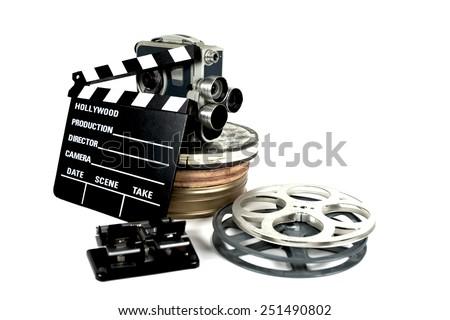 film directors clapperboard still life - stock photo