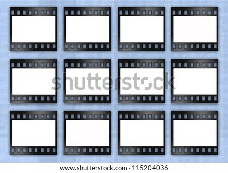 film frames for photos  - stock photo