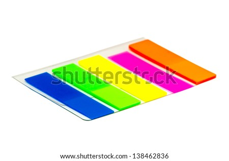 film index five color isolated on white background - stock photo