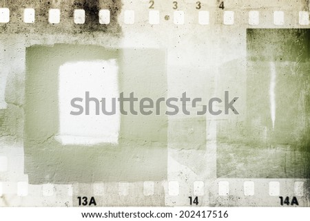 Film negative frames grunge background - stock photo