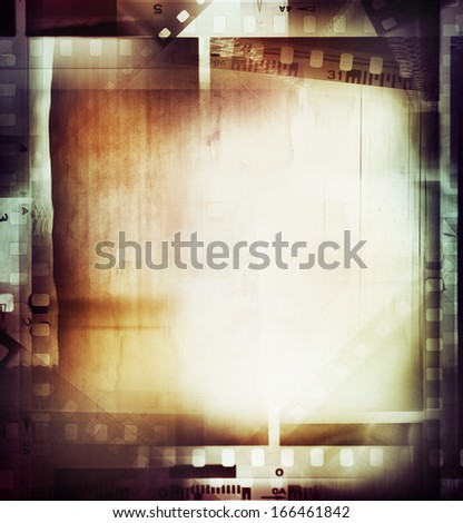 Film negatives frame, copy space  - stock photo