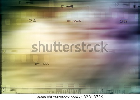 Film negatives numbers, abstract background - stock photo