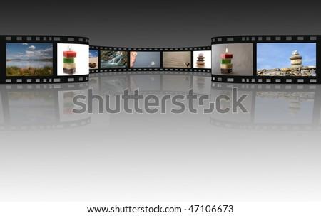 Film on a white - stock photo