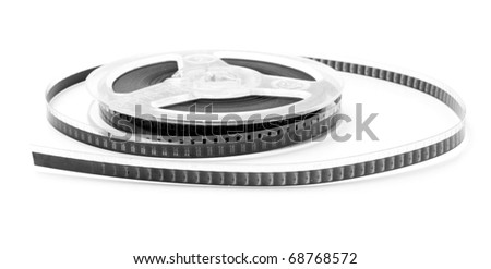 film on a white background - stock photo