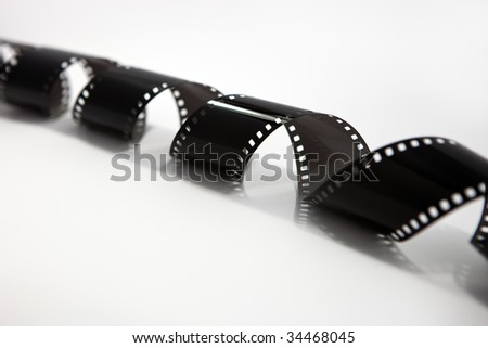 Film roll n white background - stock photo