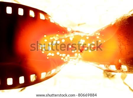 film strip burning - stock photo