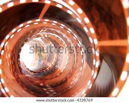 Film strip hole. - stock photo