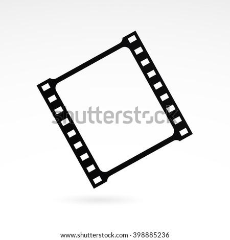 Film strip icon on white background.  - stock photo