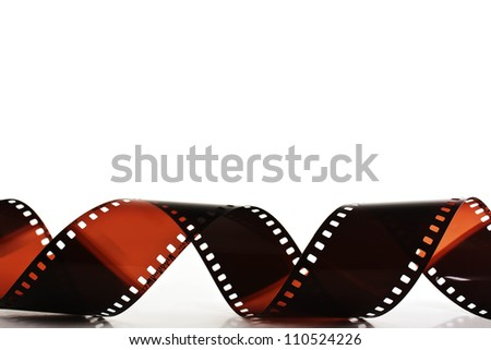 Film strip isolated on white background - stock photo