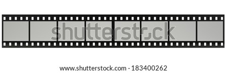 film strip. Isolated on white background. 3d - stock photo