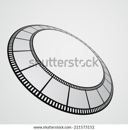 film strip round background design - stock photo