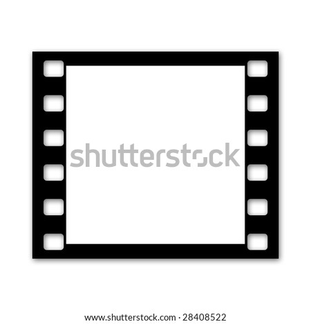 Film strip, single square frame - stock photo