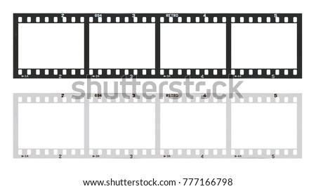 Film Strip Template Frames Empty Developed Stock Photo (Edit Now ...