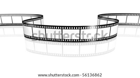 film strip white - stock photo