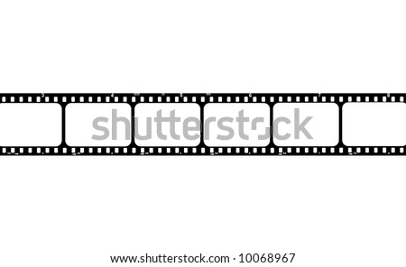 Film strip with blank frames to put your images there