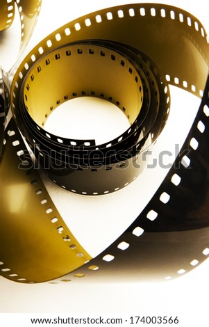 Film strips closeup - stock photo