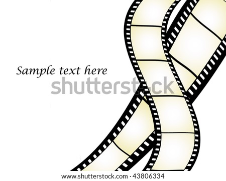 Film strips illustration with place for text - more available