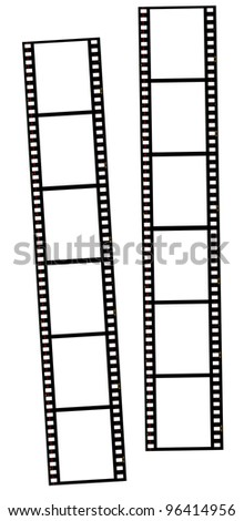 Film strips isolated on white. great for borders, frames, backgrounds, etc. Very high quality so you can resize without loosing clarity.