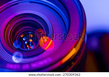 Film, vision, unusual. - stock photo