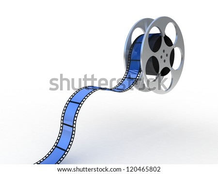 Filmstrip, 3D - stock photo