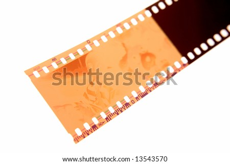 Filmstrip on white