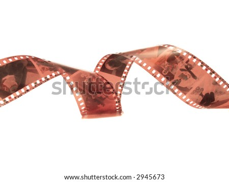Filmstrip roll . - stock photo