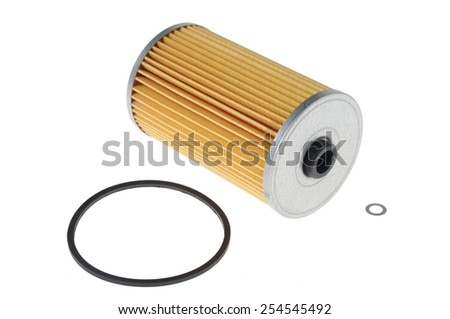 filter for vehicles with seals isolated on white  - stock photo