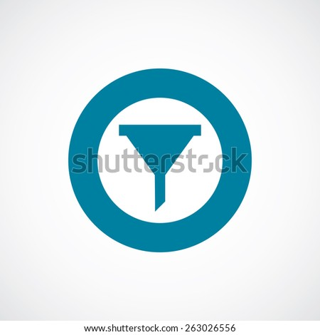 filter icon bold blue circle border, white background