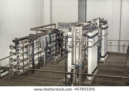 filter system at a large beer company