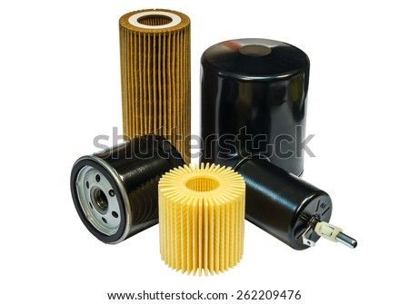 Filters for cars on a white background - stock photo