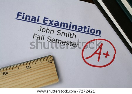 Final Examination Grade - stock photo