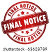 Final notice stamp - stock photo