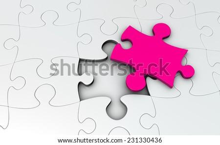 Final Puzzle Piece - stock photo