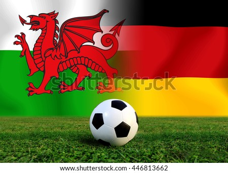 Final round between the football national team Welsh and national German.