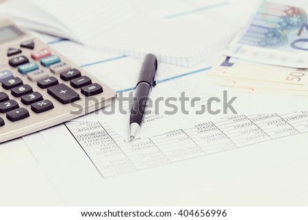 Finance. Accounting documents on the table - stock photo