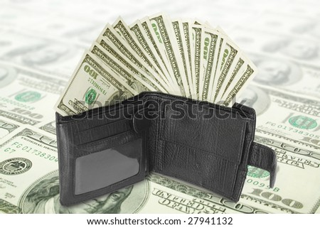 finance and business concept. money with wallet