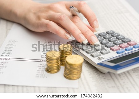 Finance and wealth - stock photo