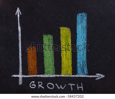 finance business graph - stock photo