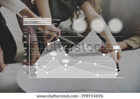 Finance Currency Financial Money Graph Growth Concept - stock photo